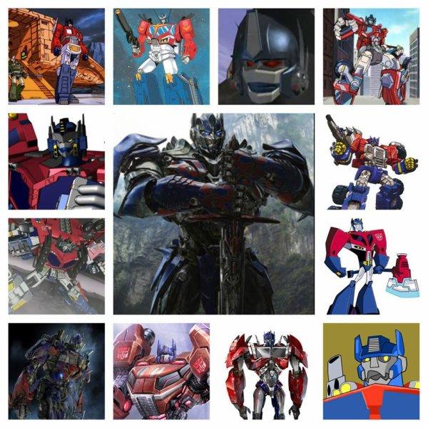 Optimus dans toutes ses generations ^^