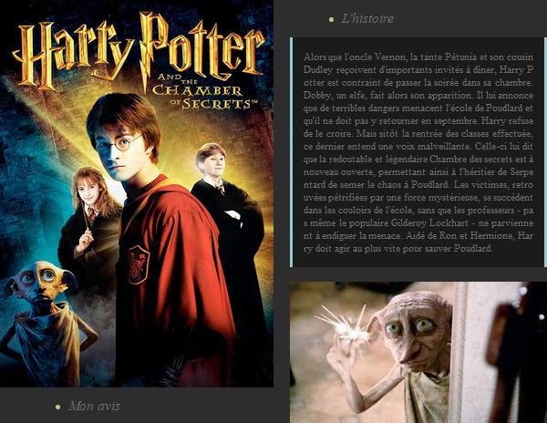 Film : Harry Potter et la chambre des secrets