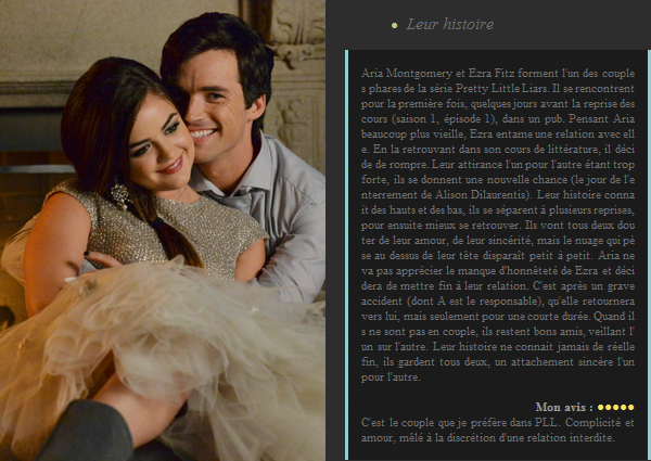 Couple de Pretty Little Liars : Aria et Ezra