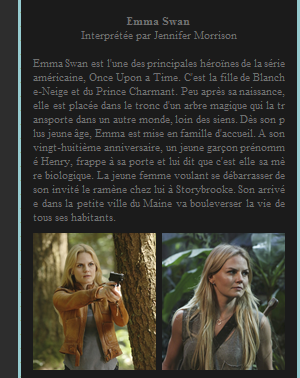 Personnage de Once Upon a Time : Emma Swan
