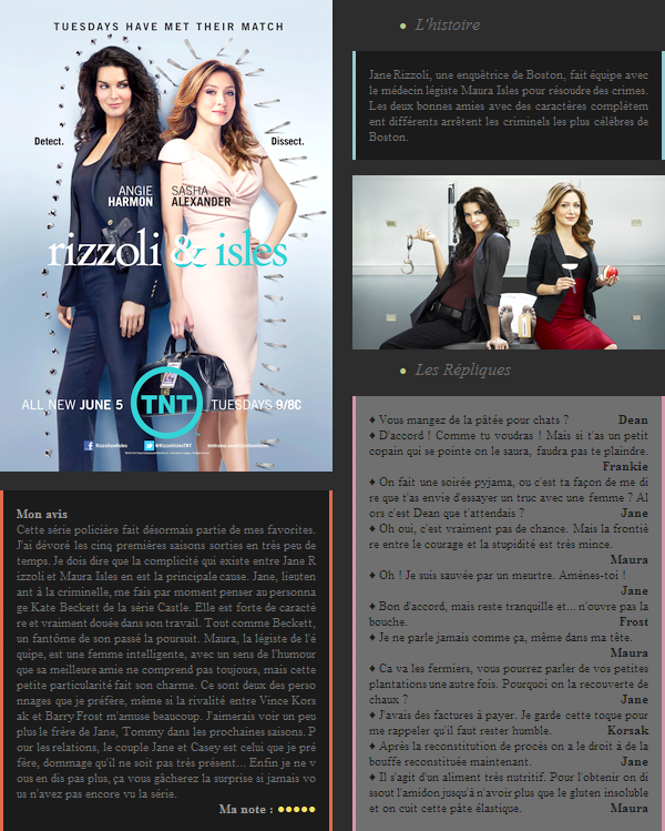 Série : Rizzoli & Isles