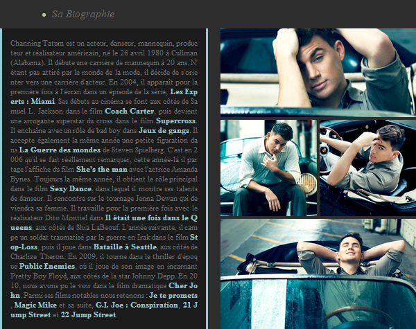 Biographie : Channing Tatum