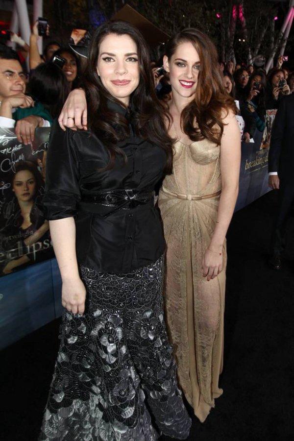 Photographie de Stephenie Meyer et de Kristen Stewart
