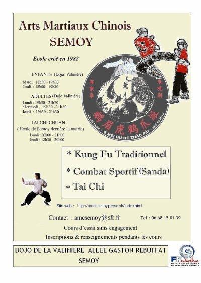 Rentr e 2011 2012 arts martiaux chinois semoy for Art martiaux chinois