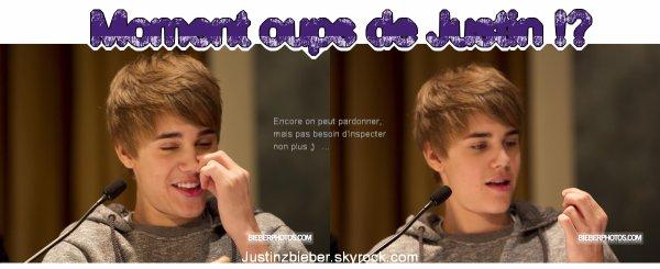 Le 2 Février Justin était à une conférence de presse pour son film Never Say Never ..Avec le sourire comme à son habitude :) et il était très beau, personnellement j'adhère à sa nouvelle coup, et toi ? .