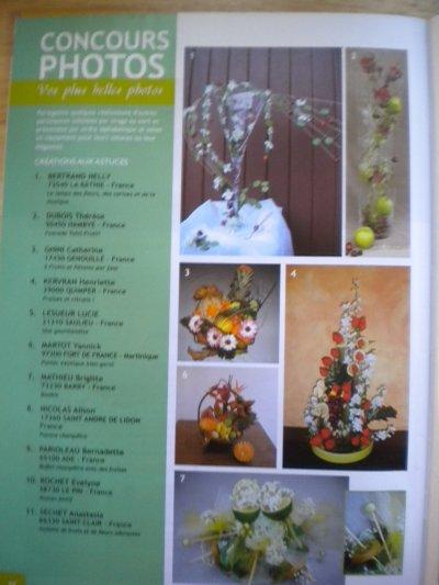 """Composition du concours du magazine """"Atelier Floral n°23"""