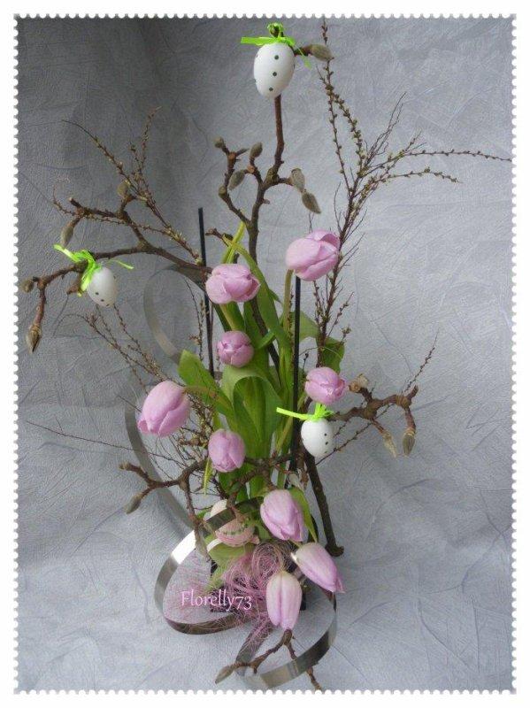 Tulipes parmes pour fêter le printemps