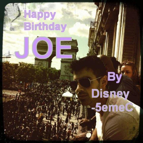 Aujourd'hui c'est l'anniv' du (2eme plus) beau Jonas, Joe =D ............................. Alors Disney-5emec souhaite un joyeux & heureux anniversaire a Joe Jonas