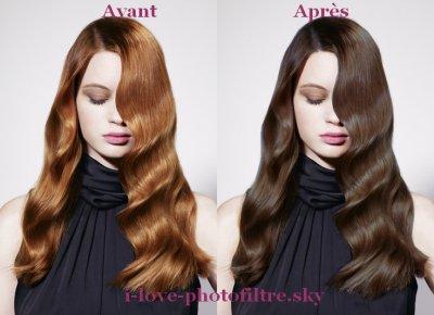 Modifier couleur de cheveux sur photo