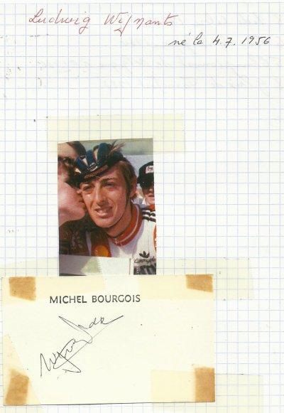 mes autographes de cyclistes W