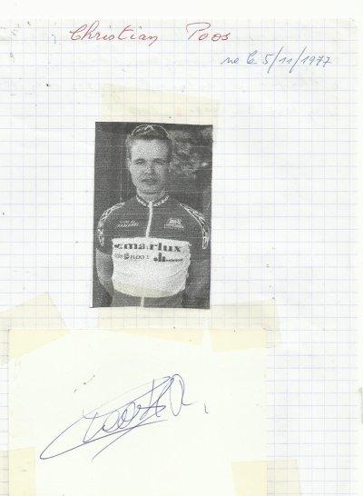 mes autographes de cyclistes P