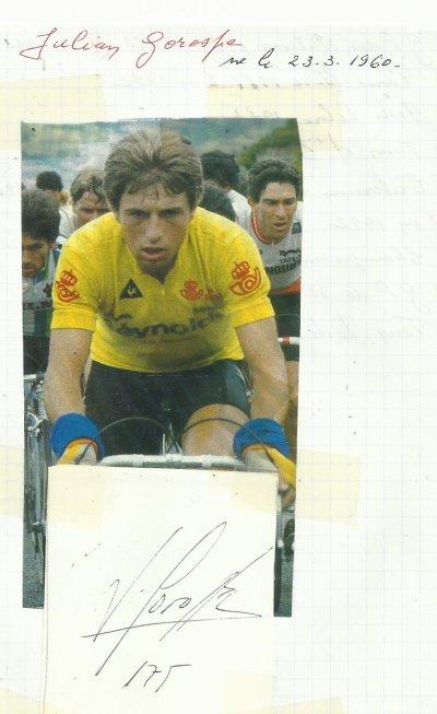 mes autographes de cyclistes  G