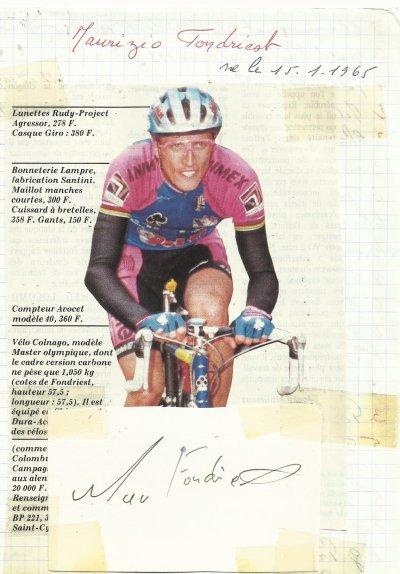 mes autographes de cyclistes  F