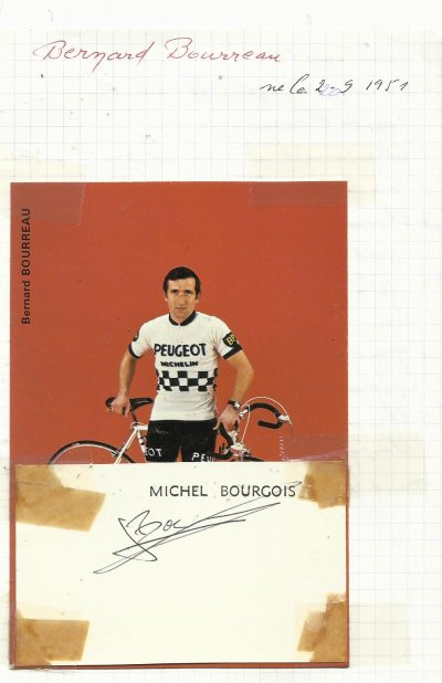 mes autographes de cyclistes   B