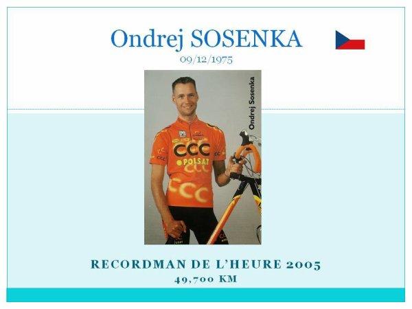 et maintenant le dernier qui figure des le record du monde de l'heure  ondrej sosenka