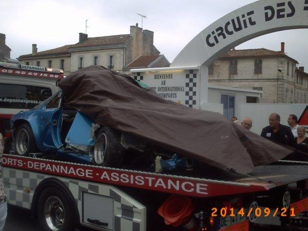 accident aux essais du circuit des remparts ce matin,........  et résumé du week end