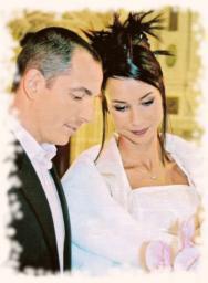 Jennifer Lauret et Patrick , Mariage de stars