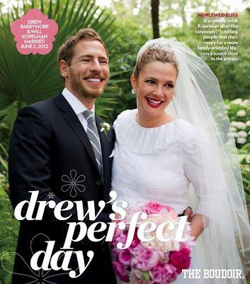 Drew Barrymore et Will Kopelman - Mariage de stars