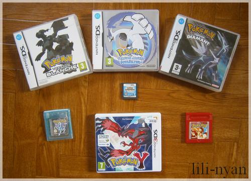 Tous mes jeux Pokemon !