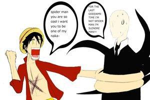 Luffy et le Slenderman