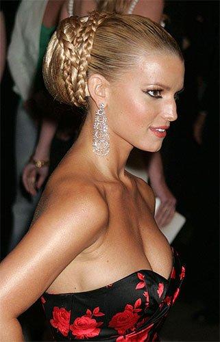 Chignon tresse Britney Spears