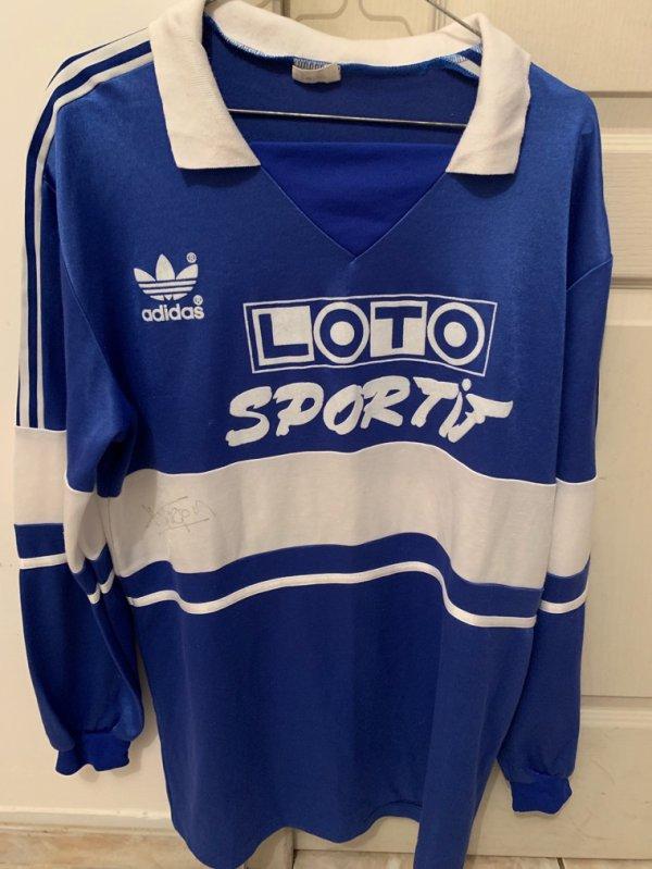 maillot loto sportif no2 signé par Michel hidalgo