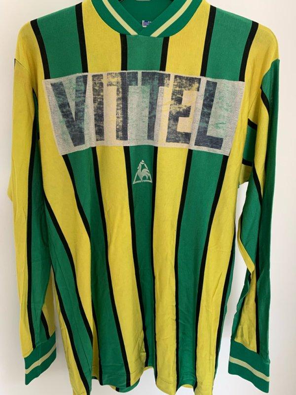 maillot foot Fc nantes vittel 68 premier sponsor en France