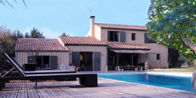 Fa ade de la maison the house frontage maison proven ale contemporaine ai - Facade maison provencale ...