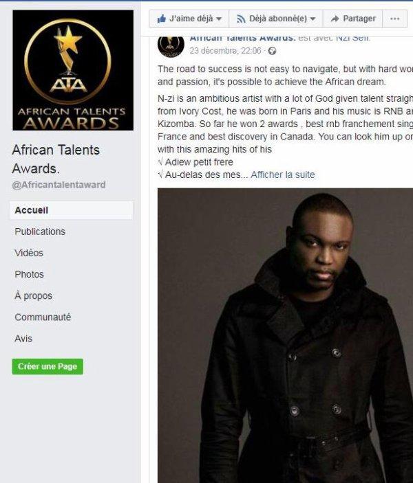 N-ZI AfricantalentsAwards!!!!!