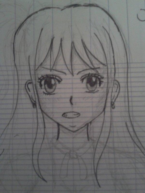 J'ai essayé de dessiner Lucy de FT ;)