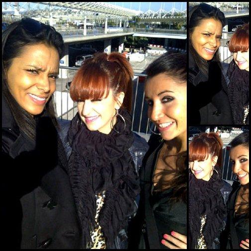 Hier soir Shy'm, Nathalie et Laure étaient au   Colombus Show Beach Soccer avec Christophe Maé à Monaco  Prescilla (ShymWeb) y était!