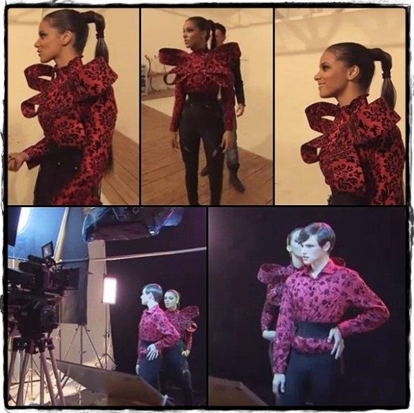 Un petit aperçu d'une tenue que Shy'm portera dans le clip «En Apesanteur» ... <3 #CantWait