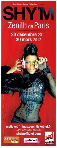 [#ShymTour2012] ... avec un Zénith de Paris COMPLET !