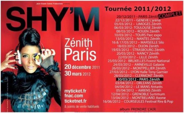 [#ShymTour2012] Une nouvelle affiche avec de nouvelles dates!