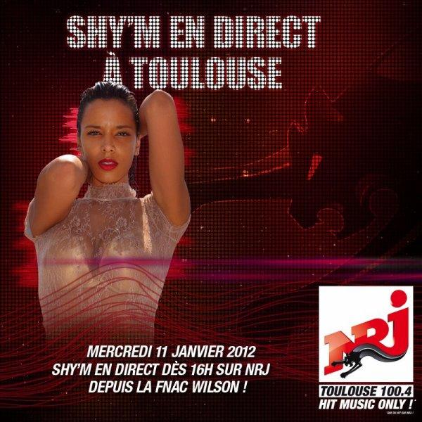 -- Shy'm à Toulouse ce mercredi 11 janvier ! --