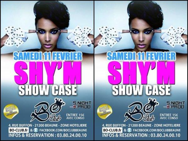 Shy'm en showcase au BO Club le 11 février à Beaune (Bourgogne) Plus d'infos