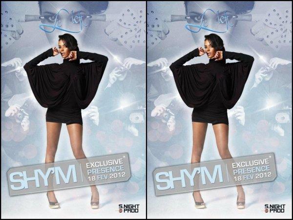 Shy'm en showcase au Loft à Rungis (vers Paris) le 18 février! (Merci @Cédric pour l'info)