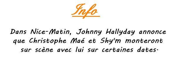||| • Flash Info : Shy'm sur scène avec Johnny Hallyday • ||| Merci @KevBoucher pour l'info
