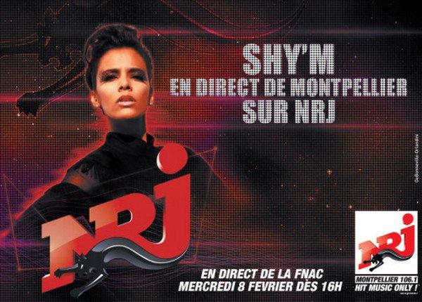 Demain, dès 15h30, Shy'm sera en séance dédi' à la FNAC de Montpellier! Et elle sera en direct sur NRJ dès 16h!