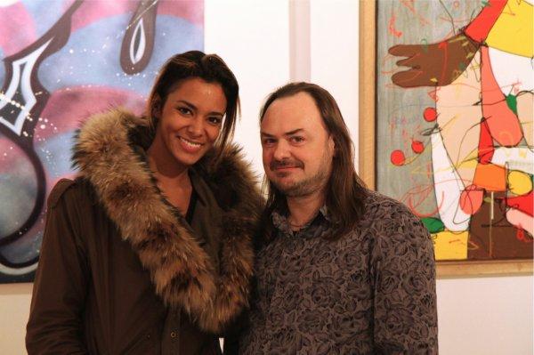 | Photo • Shy'm à la galerie Brugier-Rigail le mois dernier •  Exposition street art «Dans les rues de Paris, New york, rio» |