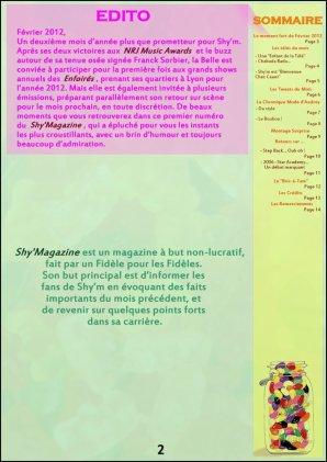 Le Shy'Magazine fait avec amour, passion et humour par Anthony ! Je vous laisse le découvrir...