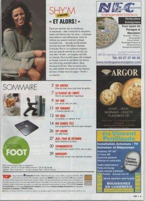 | SHY'M EN COUVERTURE DU TOP • 1 PHOTO INÉDITE •  Magazine gratuit. Merci @MarineEthuin pour les scans |