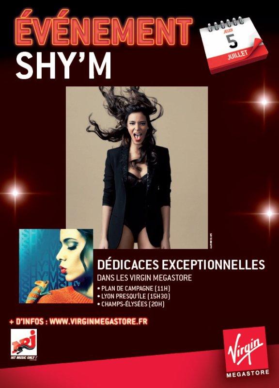 ||| Shy'm sera en séances de dédicaces exceptionnelles à Marseille, Lyon et Paris le 5 juillet ! |||