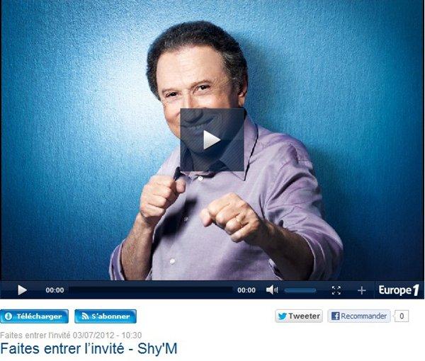 ||| Shy'm dans «Faites entrer l'invité» sur Europe1 ! Podcast + quelques petites photos |||