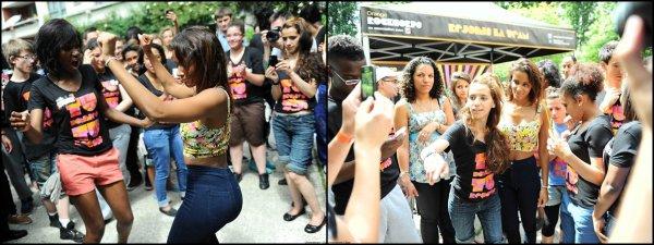 ||| Photos • Shy'm rencontre les bénévoles d'Orange RockCorps - Jeudi 28 juin • Partie 2 |||