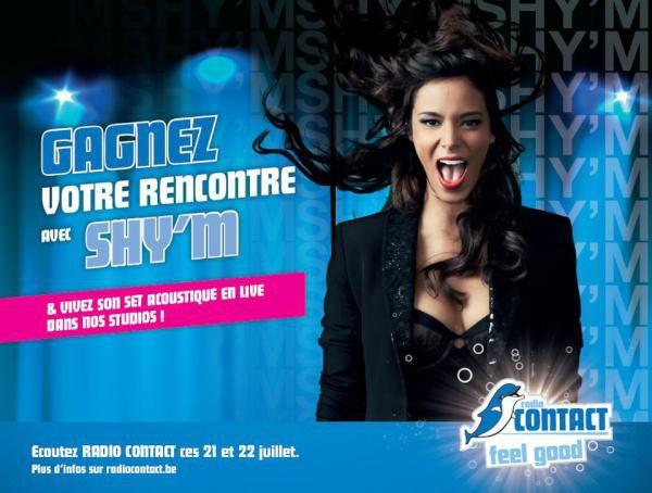 Jeudi 26 juillet : Shy'm sera en Belgique ! Tentez de gagner votre rencontre !
