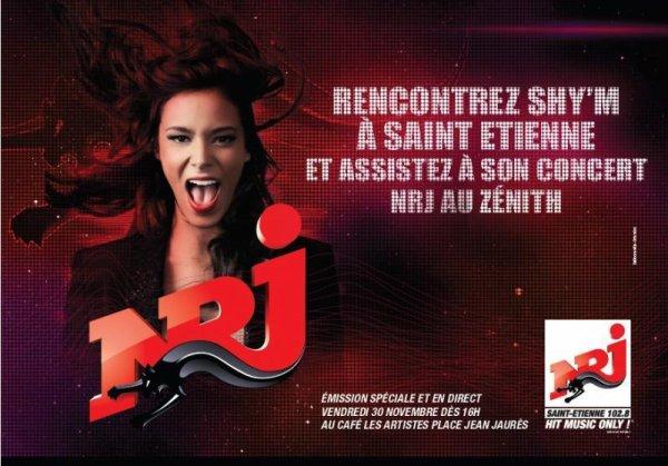 [ Emission spéciale Shy'm en direct sur Nrj St Etienne depuis le Café Des Artistes ce vendredi dès 16h ]