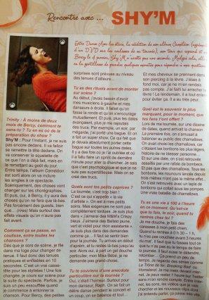 [ Interview de Shy'm pour le mag Trinity Stars + Photo inédite ]