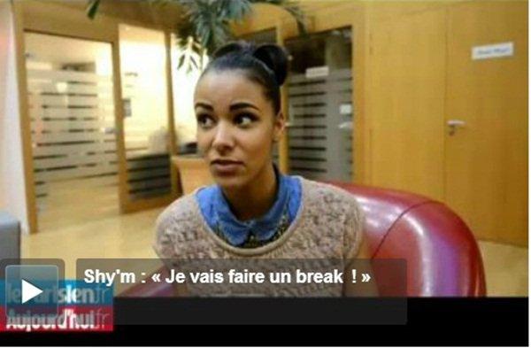 [ Shy'm annonce un break de 7/8 mois • Le parisien ]