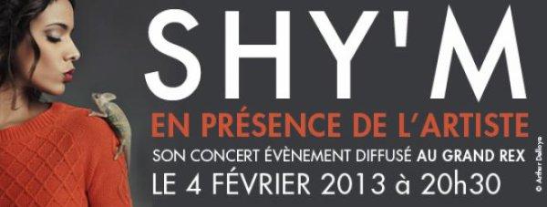 LE #BERCYSHYM SERA DIFFUSÉ AU GRAND REX LE 4 FÉVRIER EN PRÉSENCE DE SHY'M !